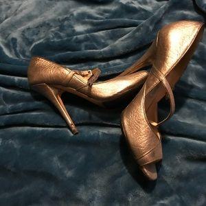 Jimmy Choo 38 1/2 Strappy Open Toe Heels